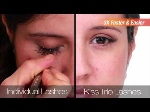 3a851dfdb49 Introducing Kiss EverEZ Trio Lashes. - YouTube