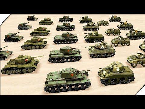 ТАНКОВЫЕ БАТАЛИИ Второй Мировой Войны на Андроид - Игра WW2 Battle Simulator # 3