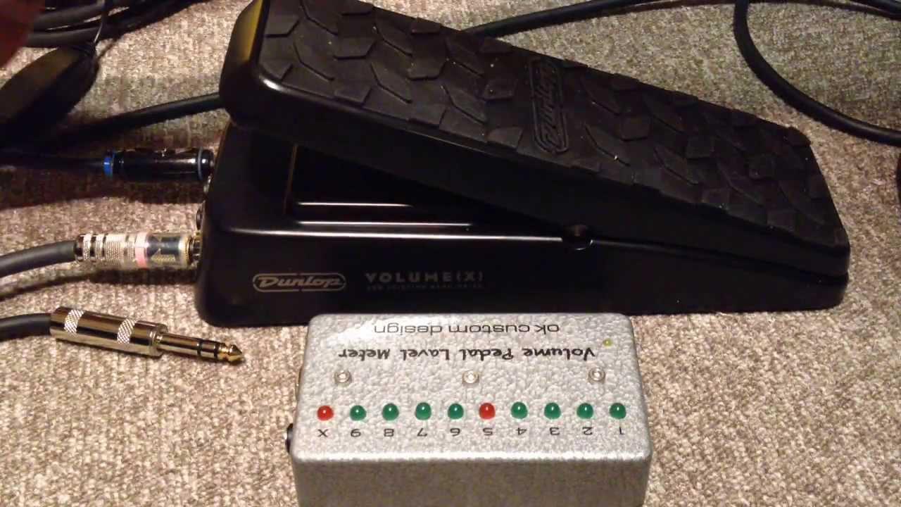 dunlop dvp3 volume x volume pedal level meter youtube. Black Bedroom Furniture Sets. Home Design Ideas
