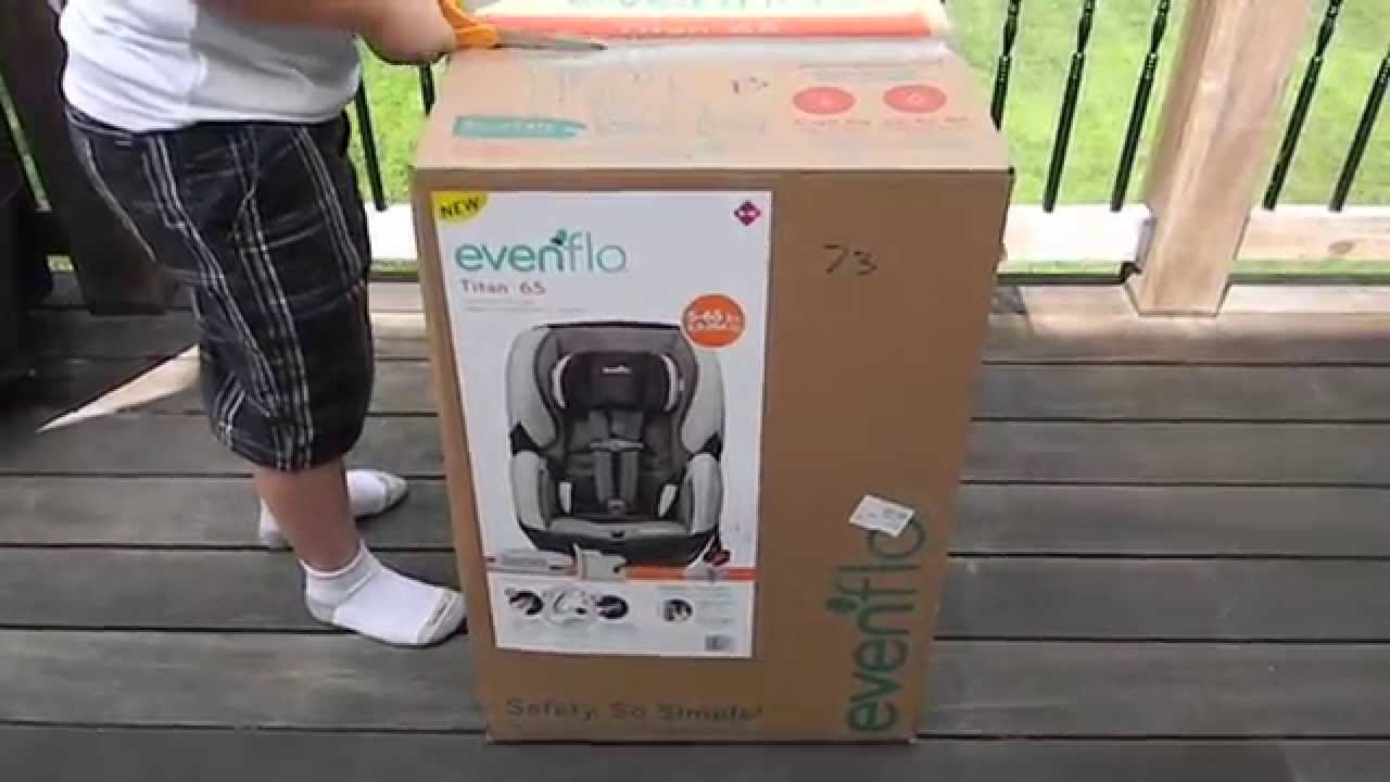 evenflo titan 65 convertible carseat with suresafe installation