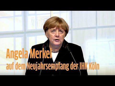 Angela Merkel auf dem Neujahrsempfang der IHK Köln
