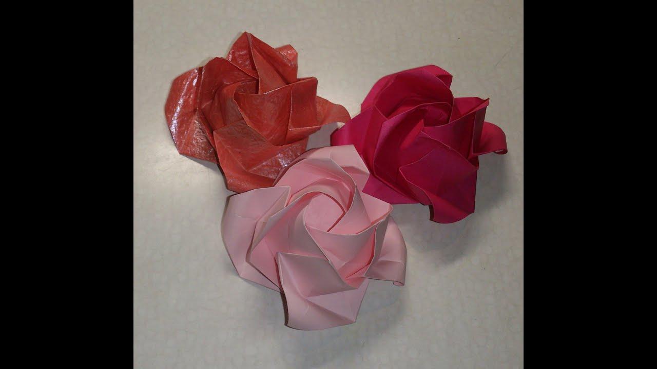すべての折り紙 折り紙 折り方 バラ : 折バラ(福山ローズ)の折り ...