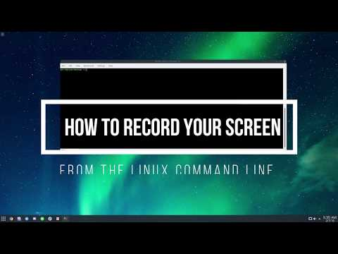 How To Record Your Screen From The Linux Command Line