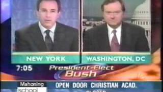 Dec., 2000: The Today Show:  Bush Wins the Election, part 1!!