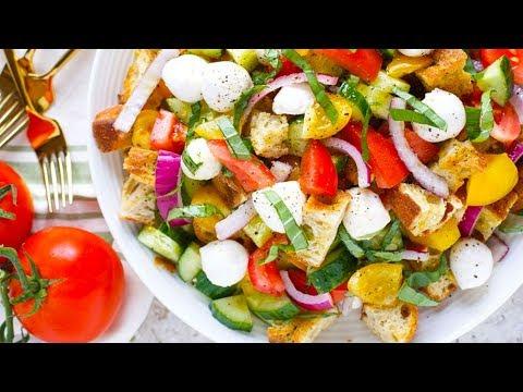 Strawberry and Tomato Panzanella Salad
