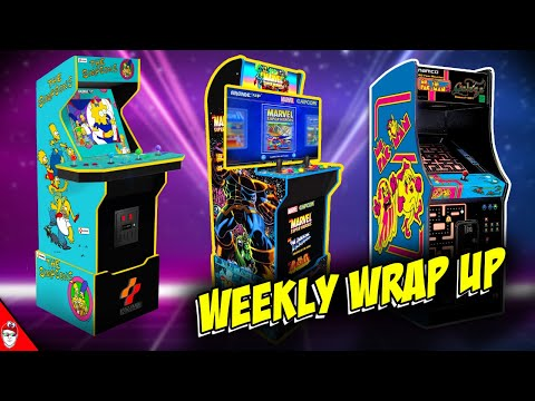 Arcade1up - Weekly Wrap up - Simpson, HDMI Out, Ms Pacman from Console Kits