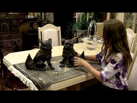 Asian Antiques Bronze Foo Dogs from our Antiques Mall