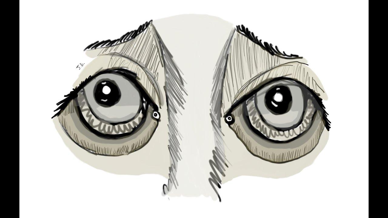 Line Drawing Of Sad Face : Speedsketch sad eyes line art character inspiration youtube