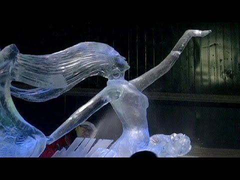 Artists from around the world compete in ice sculpture contest - no comment