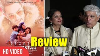 Javed akhtar and shabana azmi review on secret superstar | secret superstar review