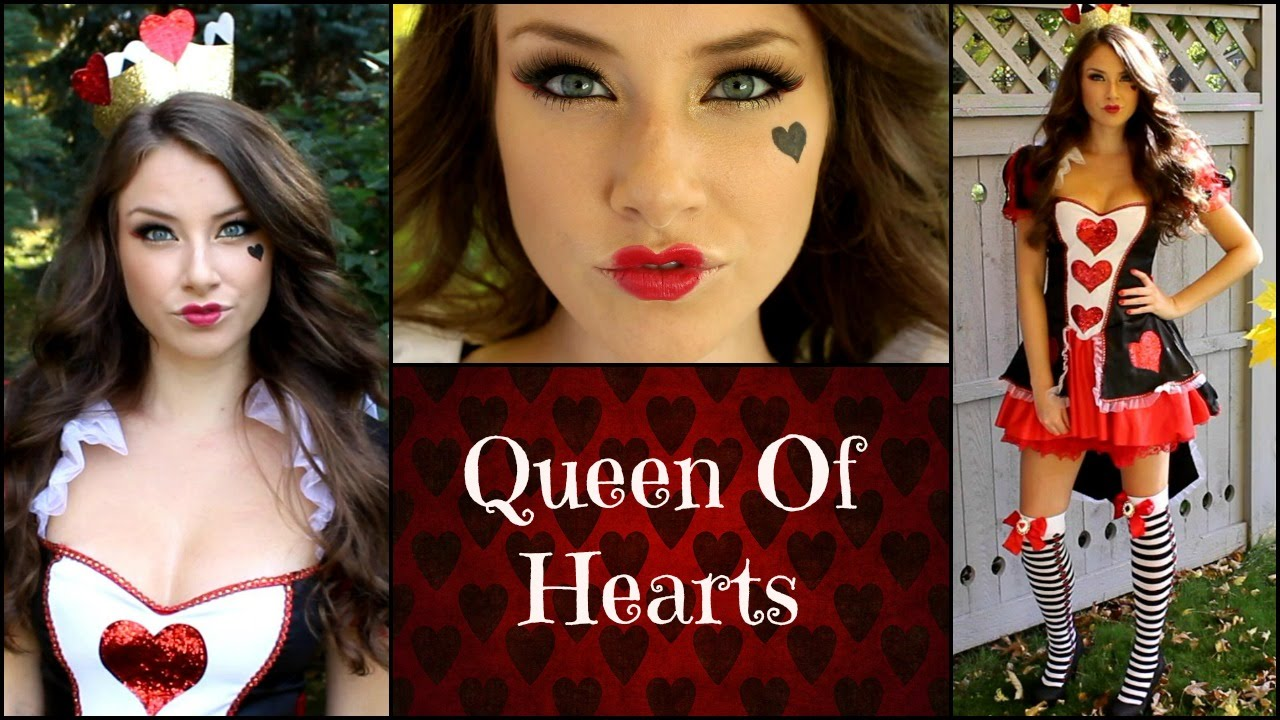 queen of hearts halloween makeup tutorial youtube