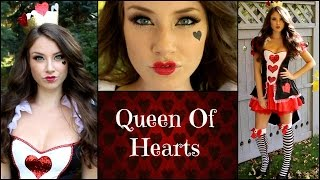 Queen Of Hearts Halloween Makeup Tutorial!