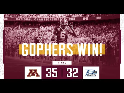 Gopher Blog - HIGHLIGHTS: Gopher Football Defeats Georgia Southern 35-32 | KFAN 100.3 FM