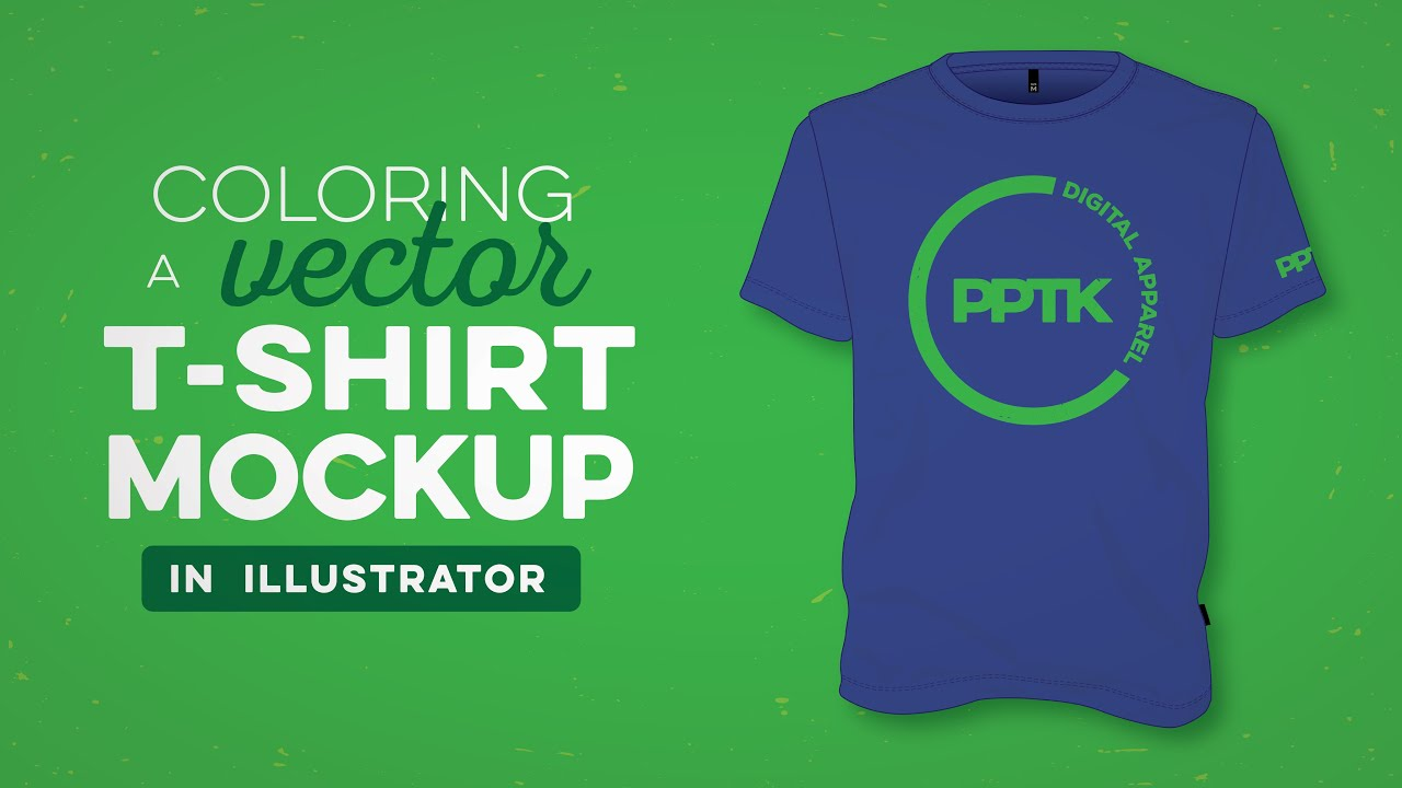 Coloring a vector t shirt mockup in illustrator youtube How to make t shirt designs in illustrator