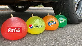 Experiment Coca Cola vs Fanta vs Orbeez vs Mentos | Crushing Crunchy & Soft Things by Car | Test Ex