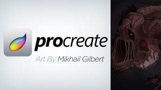 "Demon Concept by Mikhail Gilbert - ""Maw"" (iPad art on Procreate)"