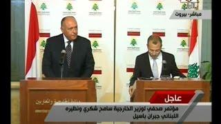 سامح شكري : ما حققه لبنان من استقرار قوة دفع جديدة في المنطقة