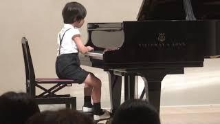 ショパン 幻想即興曲 ピアノ発表会 7才 Chopin Op.66 Fantasie Impromptu , 7 years old boy thumbnail