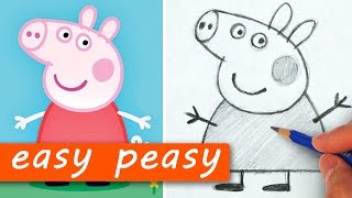 How to Draw Peppa Pig the EASY PEASY Way