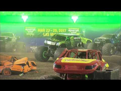 Monster Energy - FULL Freestyle from Monster Jam in Gillette Stadium - Foxborough 2016