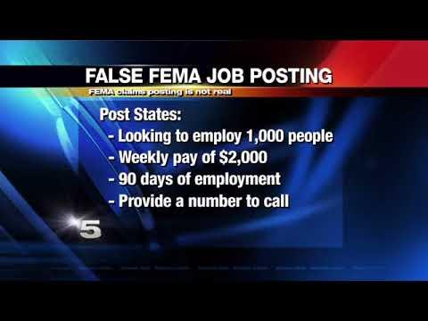 FEMA Warns About False Job Posting
