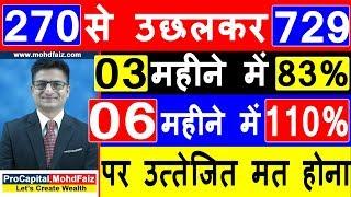 270 से उछलकर 729 पर उत्तेजित मत होना | Latest Stock Market Tips In Hindi | AVANTI FEEDS SHARE NEWS