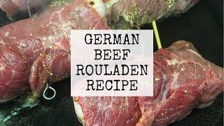 Traditional German Beef Rouladen  Recipe