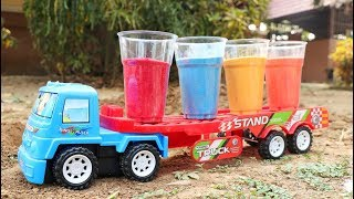 Learning Colors With Construction Vehicles - Truck ,Excavtor ,Bus , Fire Truck