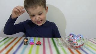Лунтик Смешарики Киндер Сюрприз игрушки распаковка Smeshariki Luntik Kinder Surprise toys
