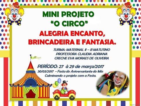 Projeto Circo Educação Infantil Youtube