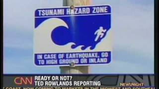 Tsunami Alert in Crescent City, CA - CNN (June 15, 2005)