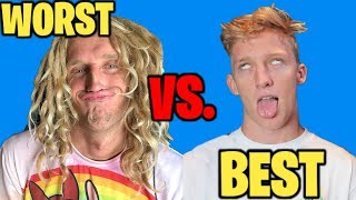 THE WORST FORTNITE PLAYER IN THE WORLD VS. THE BEST!! | JOOGSQUAD VS. FAZE TFUE