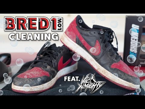The best way to clean Air Jordan Bred 1 Lows