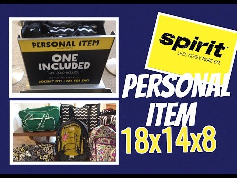 Spirit Airlines Personal Item Size 2017| Spirit Airline Bag Fees| Will It Fit?