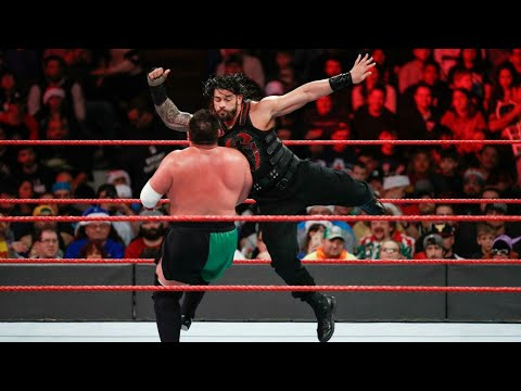 Roman Reigns vs Samoa Joe - Intercontinental Championship Match: Raw, Dec. 25, 2017 thumbnail