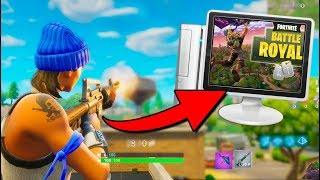 PLAYING on PC with EXCLUSIVE SKIN from PS4 Fortnite: Battle Royale