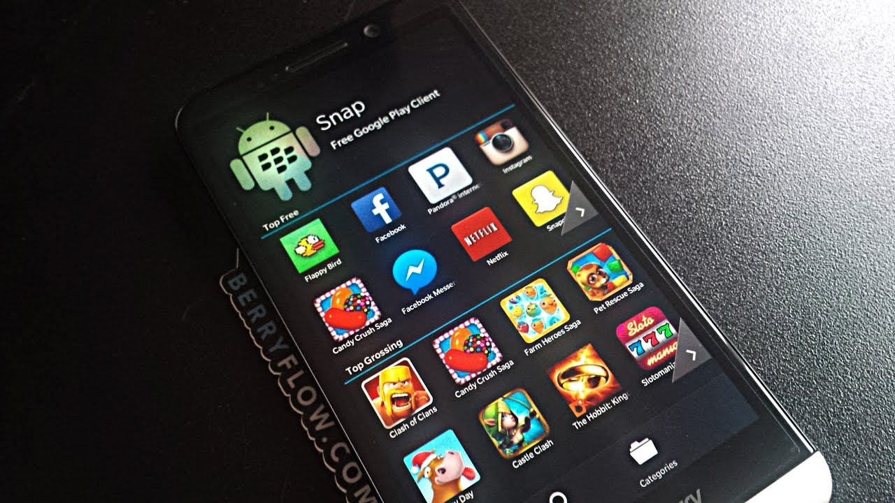 Snap Free Google Play Client for BlackBerry 10 - BerryFlow com