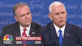 VP Candidates Mike Pence, Tim Kaine Debate Abortion And Faith | NBC News