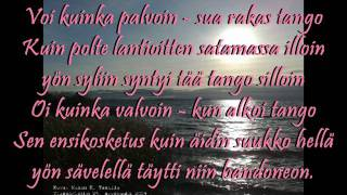 SATAMAN TANGO - EL CHOCLO - En Finlandés - TAPANI KANSA