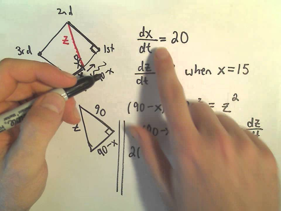 Related Rates For Calculus Baseball Diamond Problem Youtube