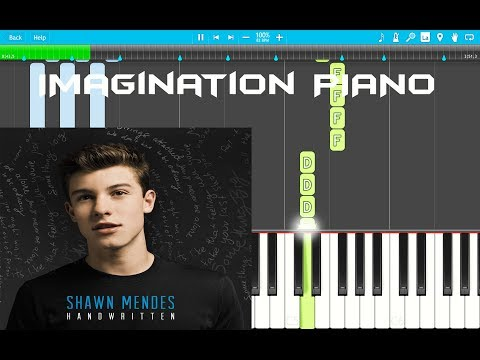 Shawn Mendes - Imagination PIANO TUTORIAL EASY (Piano Cover) Synthesia