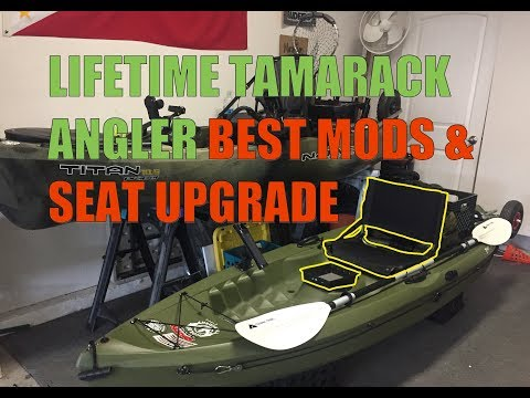 Lifetime Tamarack Angler - My Best Kayak Mods and Seat Upgrade