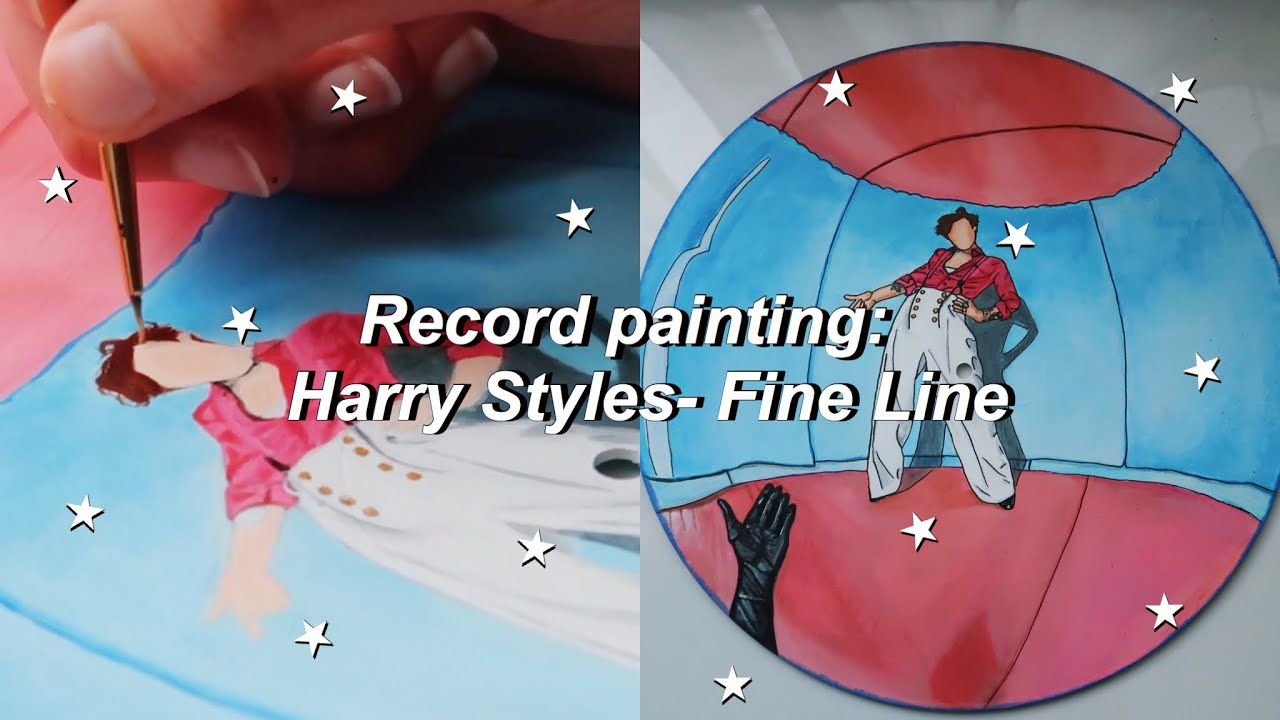Record Painting Harry Styles Fine Line Album Cover Youtube
