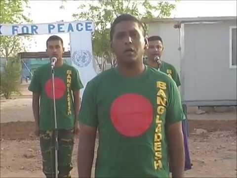 National Anthem-26 March 2014 BANSRIC-5, UNAMID, Darfur, Sudan Full Song