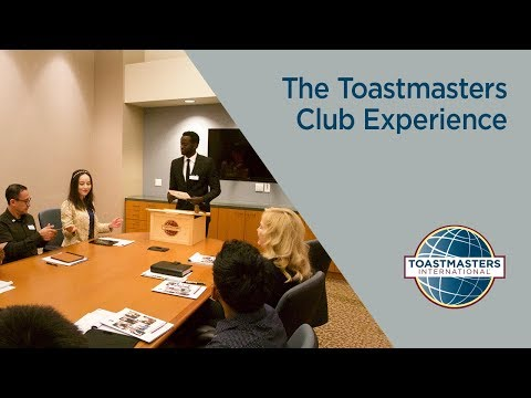 video:The Toastmasters Club Experience