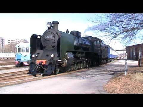 Steam locomotive Hr1 1009 at Pasila rail yard. Hr1 1009 Pasilan alaratapihalla