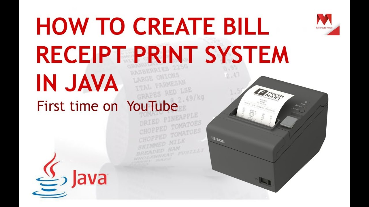 Bill Receipt Print In Java