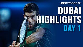 Djokovic Returns With Win; Monfils, Rublev Cruise | Dubai 2020 Day 1 Highlights