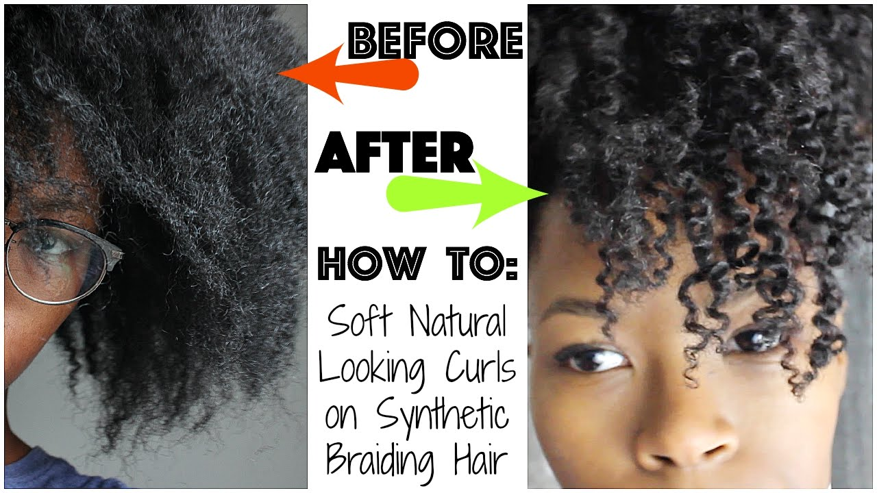 Natural Hair Styles With Marley Hair: How To Kinky Curls On Crochet Braids With Marley Hair! No