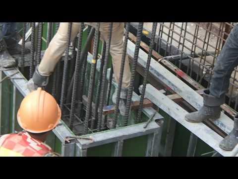 Casting concrete column basement-1